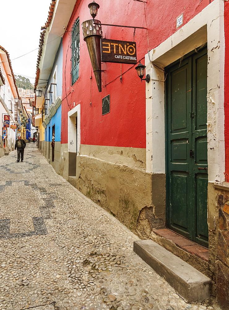 Calle Jaen, Old Town, La Paz, Bolivia, South America