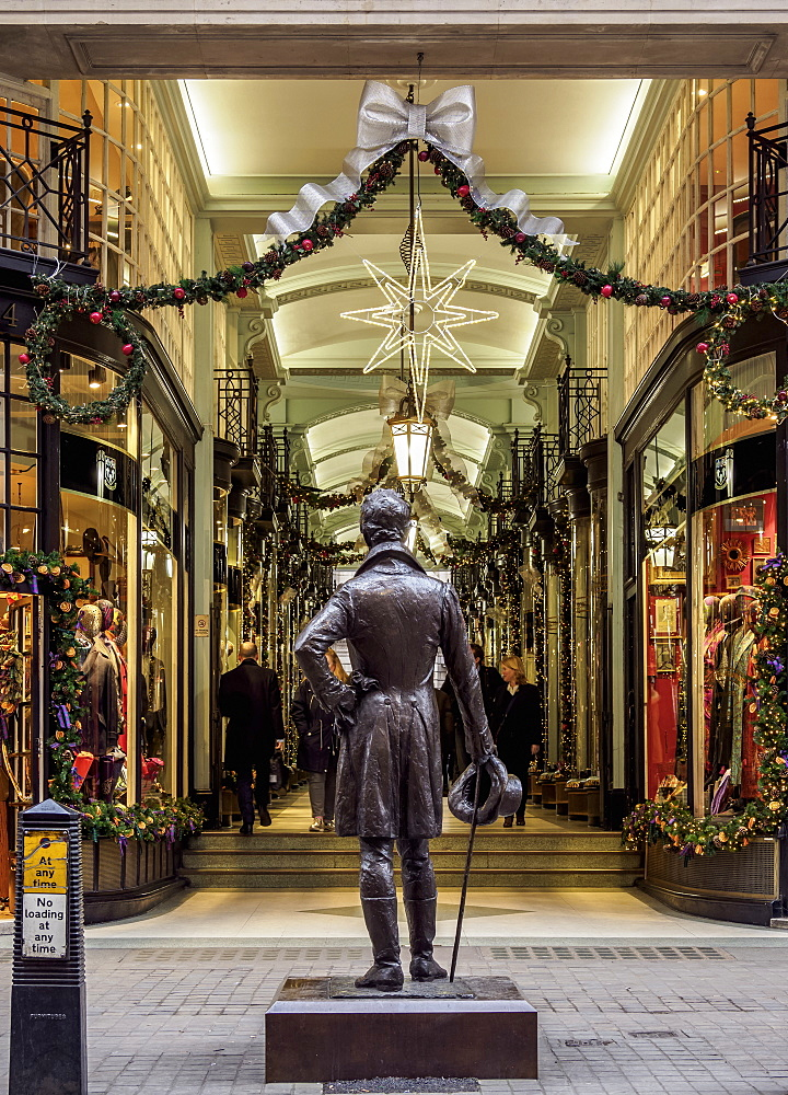 Beau Brummell Monument and Picadilly Arcade, London, England, United Kingdom