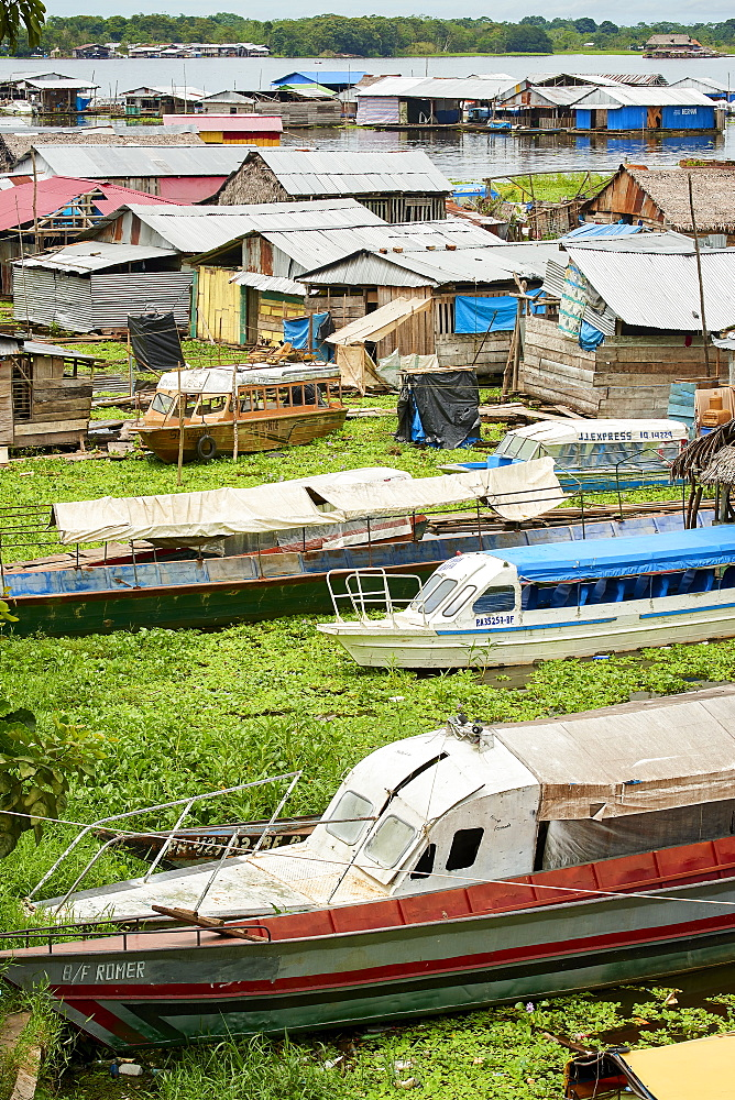 Floating houses in Iquitos, Peru, South America - 1248-57