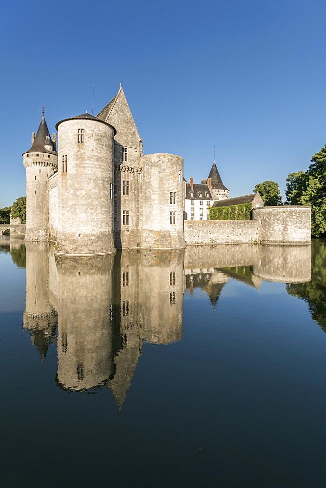 Castle and its moat. Sully-sur-Loire, Loiret, France.