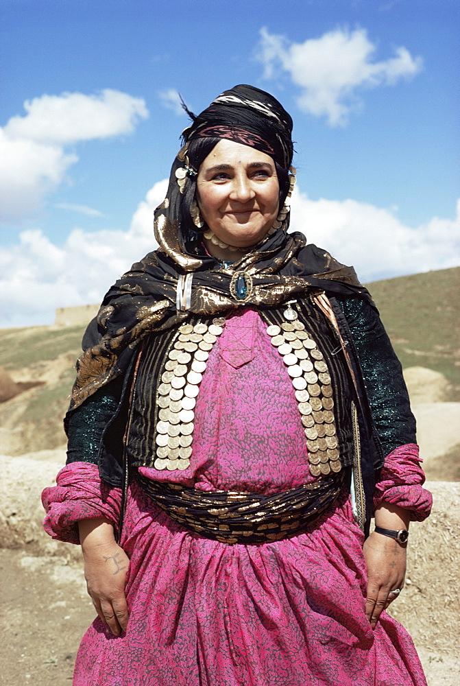 Portrait of a Kurdish woman, Iran, Middle East