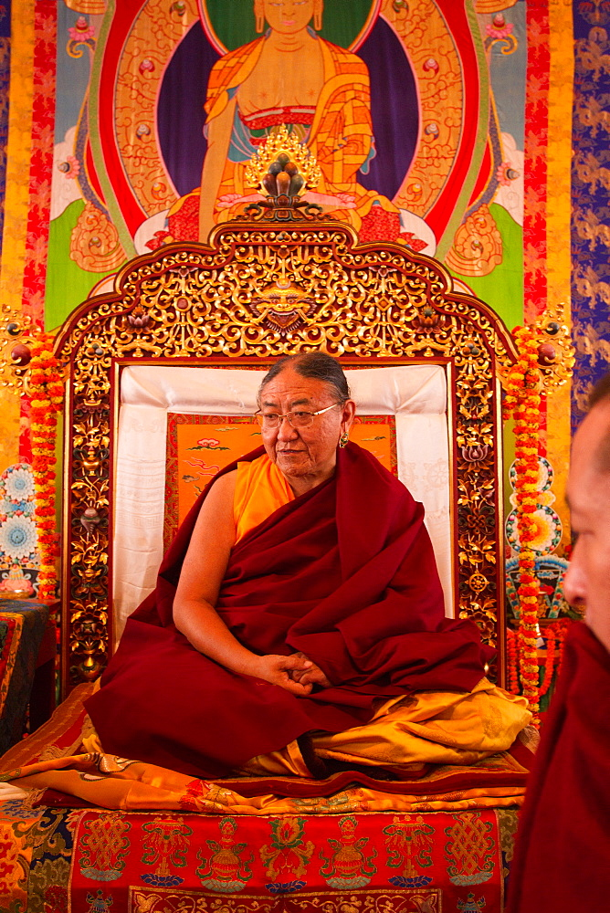 His Holiness Sakya Trizin Rinpoche, the Great Sakya Monlam prayer meeting at Buddha's birthplace, Lumbini, Nepal, Asia