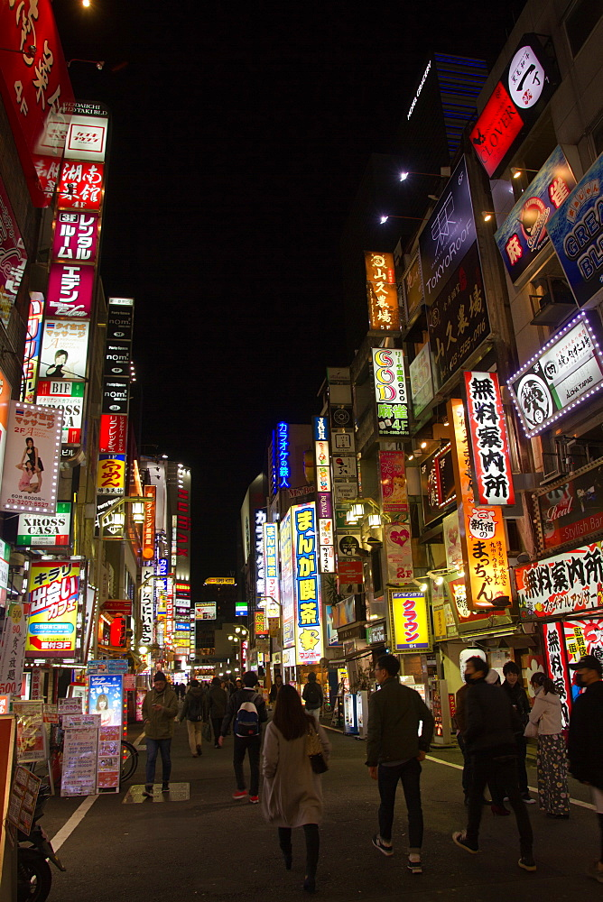 The Kabukicho district of Shinjunku, Tokyo, Japan, Asia