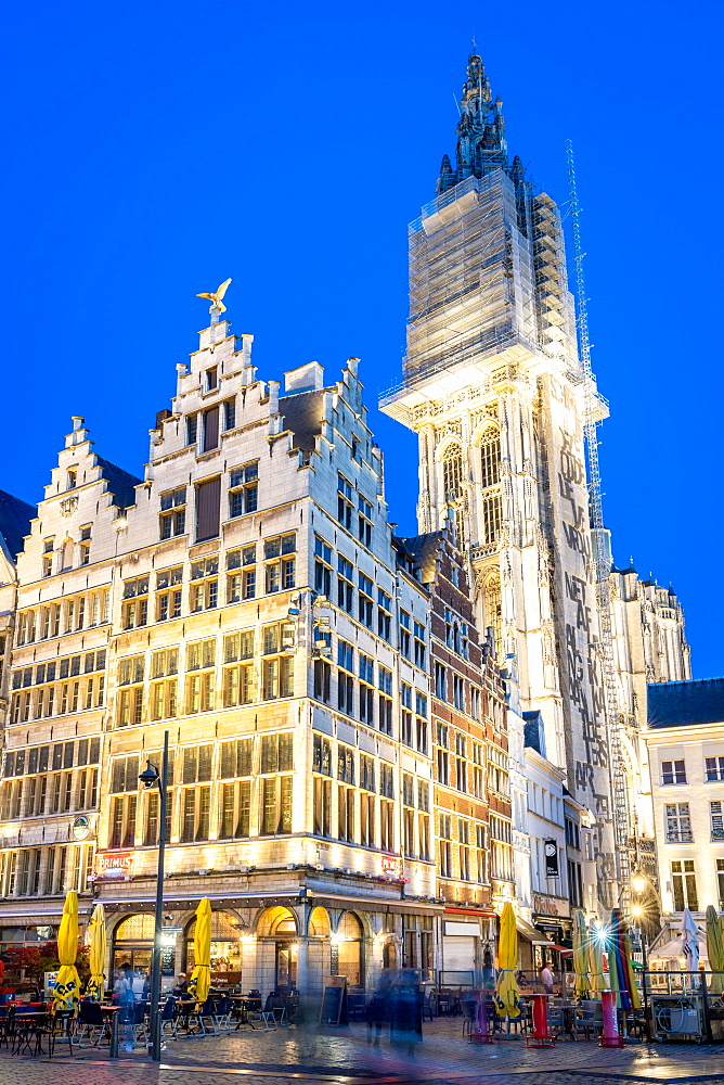 The Grote Markt in the historic centre or Antwerp, Belgium, Europe - 1263-164