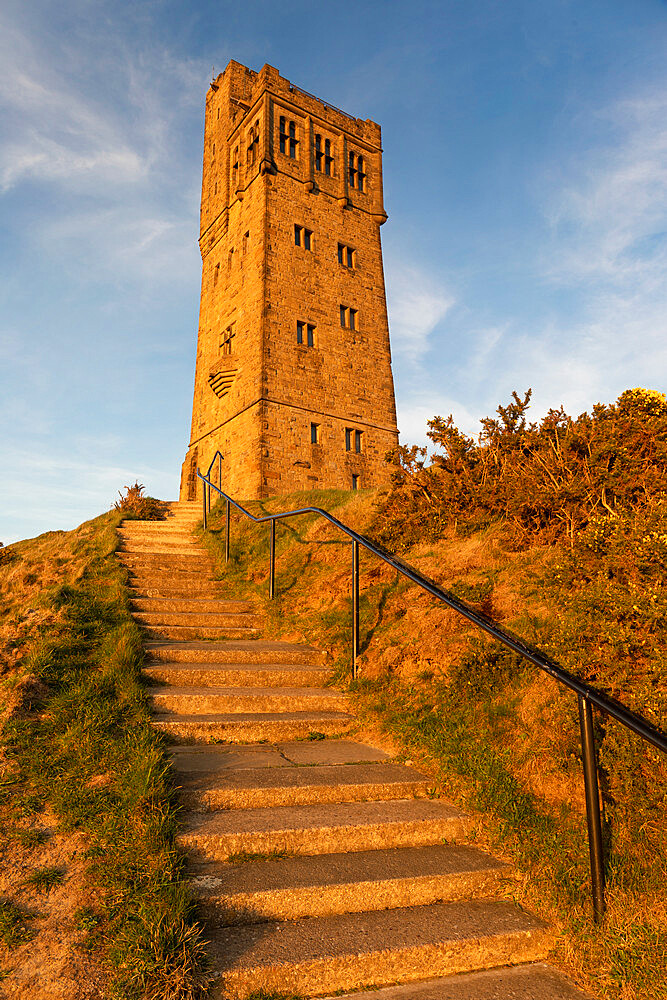 The Victoria or Jubilee Tower at Castle Hill near Almondbury, Huddersfield, West Yorkshire - 1266-187