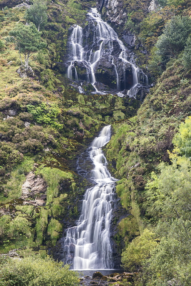 Asseranca Waterfall near Ardara, County Donegal, Republic of Ireland - 1266-41