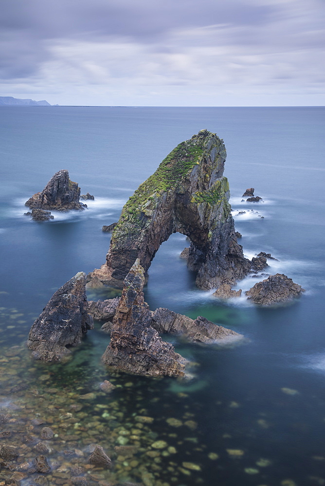 The Crohy Head Sea Arch, forming part of the Wild Atlantic Way, County Donegal, Ulster, Republic of Ireland, Europe - 1266-47