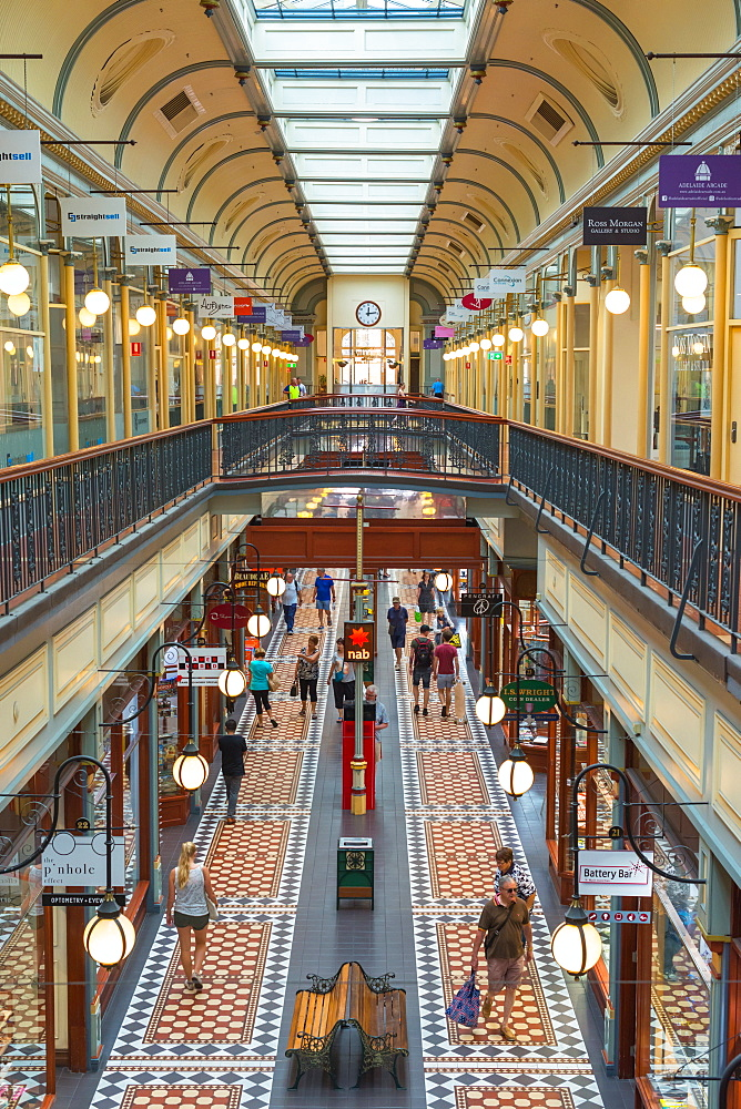 Adelaide Arcade on Rundle Mall in Adelaide, South Australia.