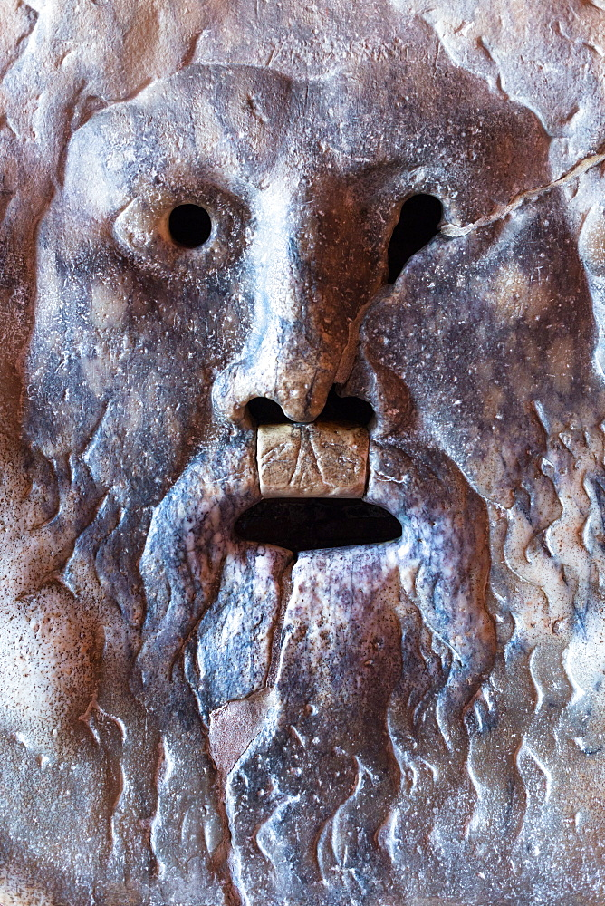 Bocca della Verita (Mouth of Truth), a marble mask at Santa Maria in Cosmedin church in Rome, Lazio, Italy, Europe - 1267-241