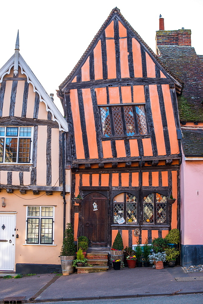 The Crooked House Gallery in the village of Lavenham in Suffolk, England, United Kingdom, Europe