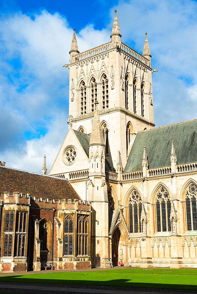 St. Johns College Chapel, Cambridge University, Cambridge, Cambridgeshire, England, United Kingdom, Europe