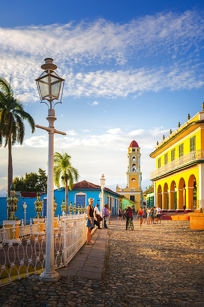 View of Bell Tower and Trinidad, UNESCO World Heritage Site, Sancti Spiritus, Cuba, West Indies, Caribbean, Central America
