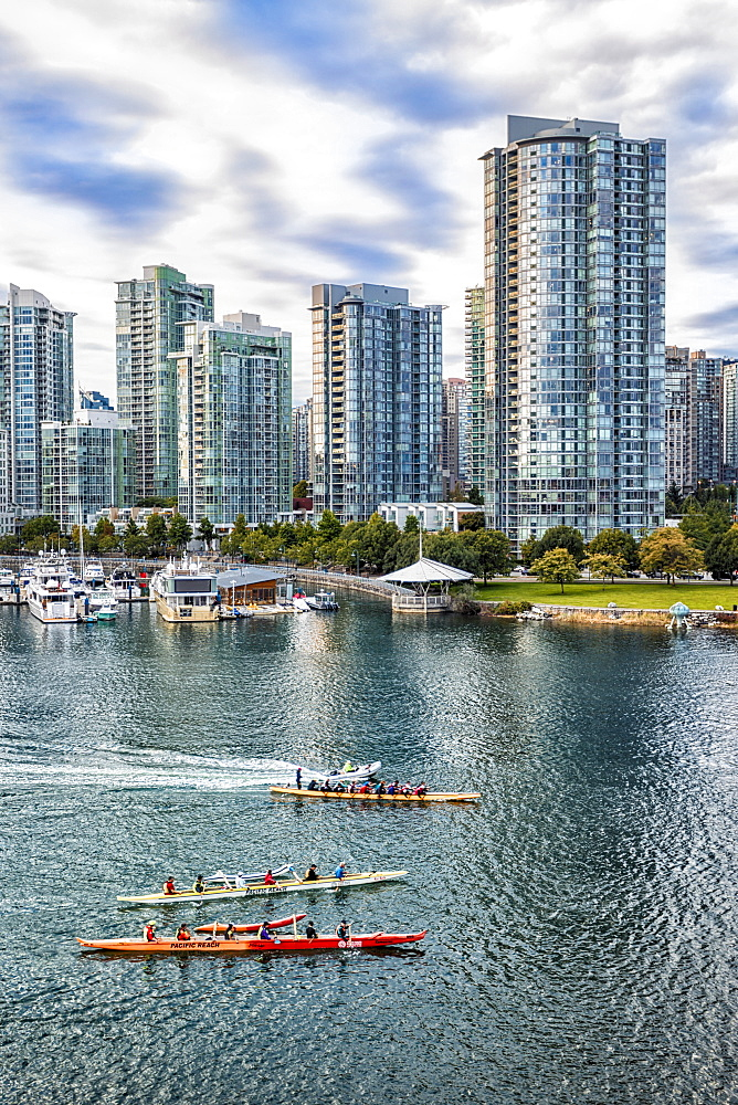 View of Vancouver skyline as viewed from Millbank, Vancouver, British Columbia, Canada, North America - 1276-81