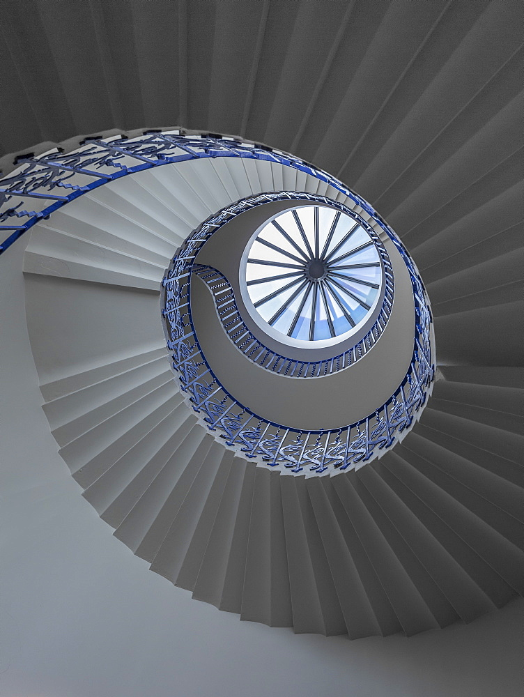 Tulip spiral staircase, Queen's House, Greenwich, London, England, United Kingdom, Europe - 1282-3
