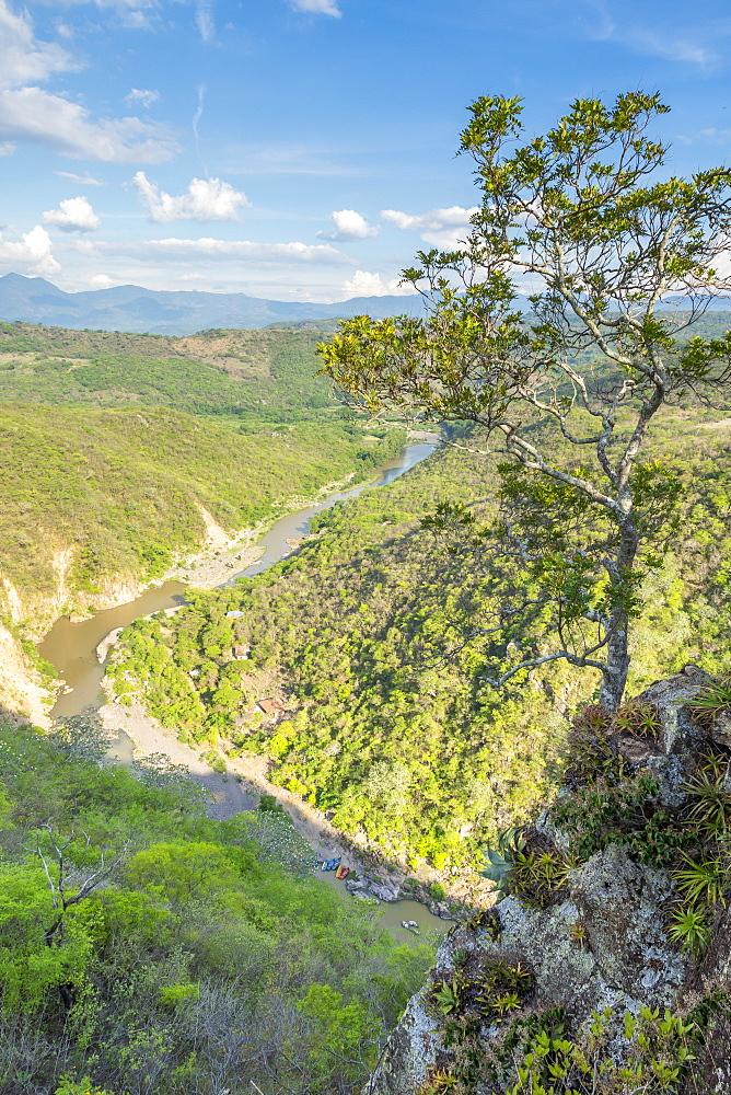 Elevated view from the second lookout over the Somoto Canyon, Nicaragua, Central America
