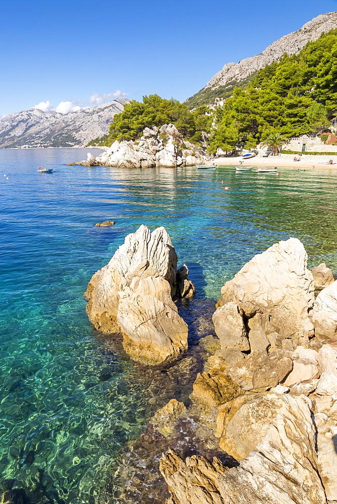 The famous Podrace Beach near Brela and Makarska