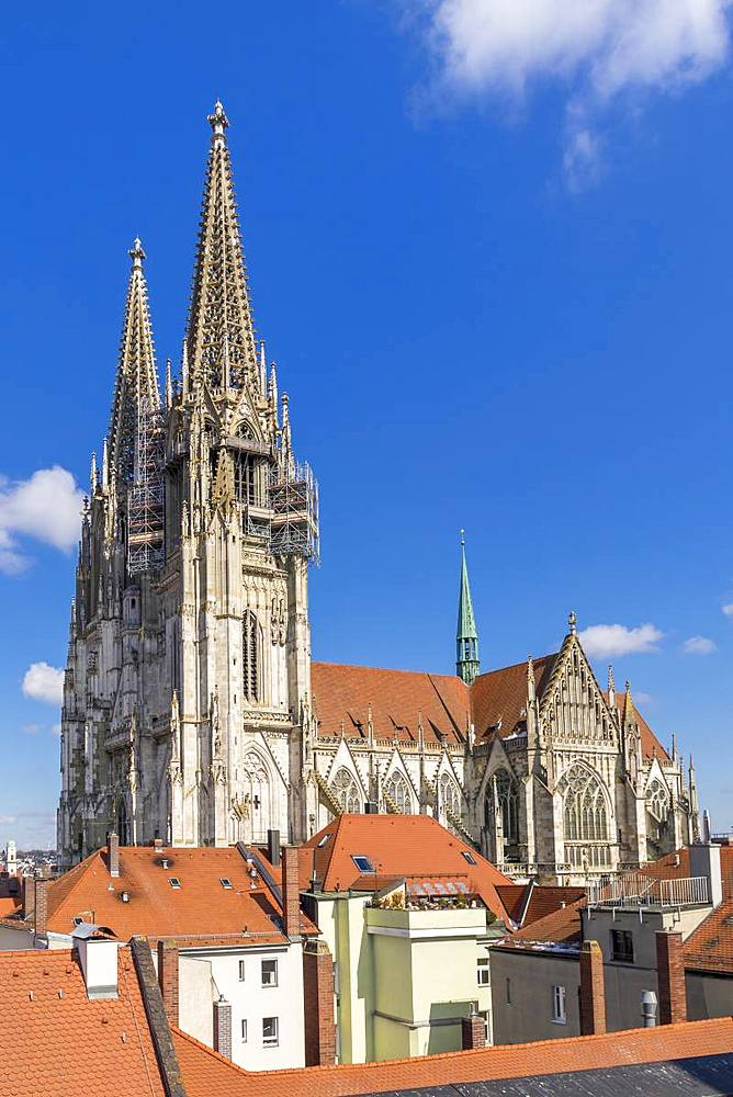 Cathedral of St. Peter, UNESCO World Heritage Site, Regensburg, Bavaria, Germany, Europe