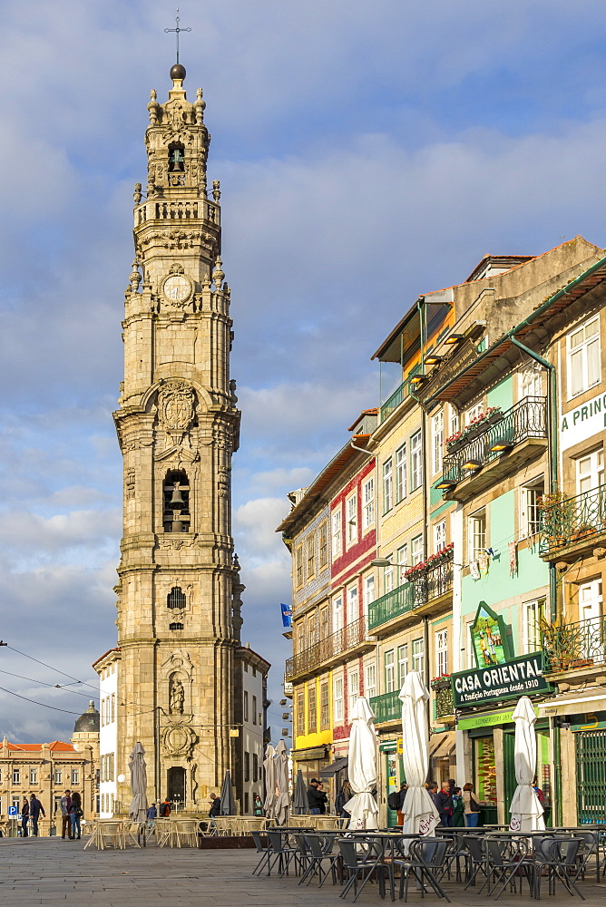 The bell tower of the Clerigos Church, Porto, Portugal, Europe