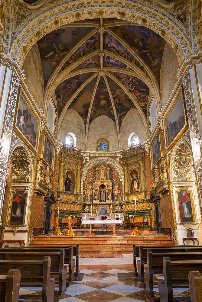 Interior of the San Agustin Church, Cordoba, Andalusia, Spain, Europe