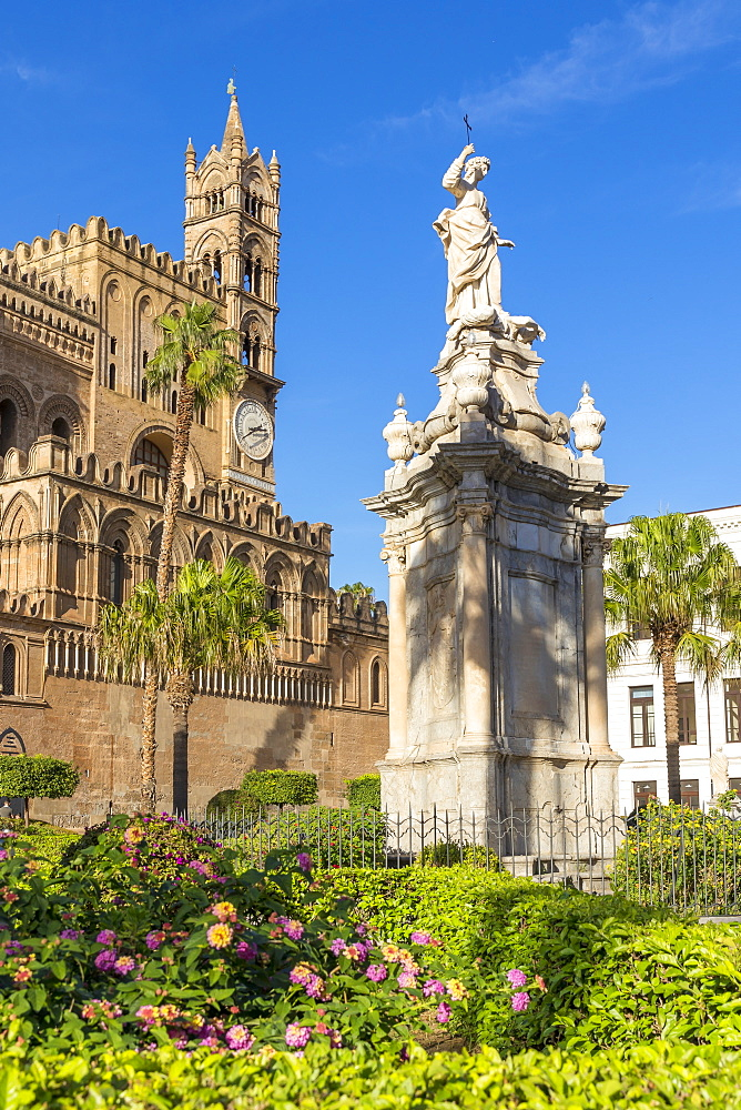 The Palermo Cathedral (UNESCO World Heritage Site), Palermo, Sicily, Italy, Europe - 1283-775