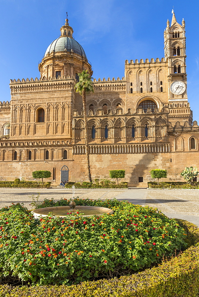 The Palermo Cathedral (UNESCO World Heritage Site), Palermo, Sicily, Italy, Europe - 1283-822
