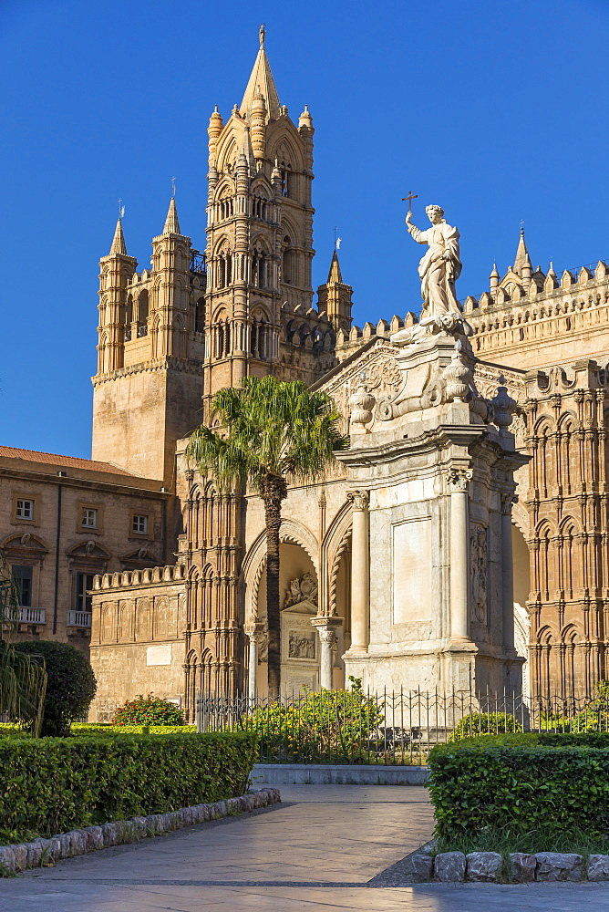 The Palermo Cathedral (UNESCO World Heritage Site), Palermo, Sicily, Italy, Europe - 1283-827
