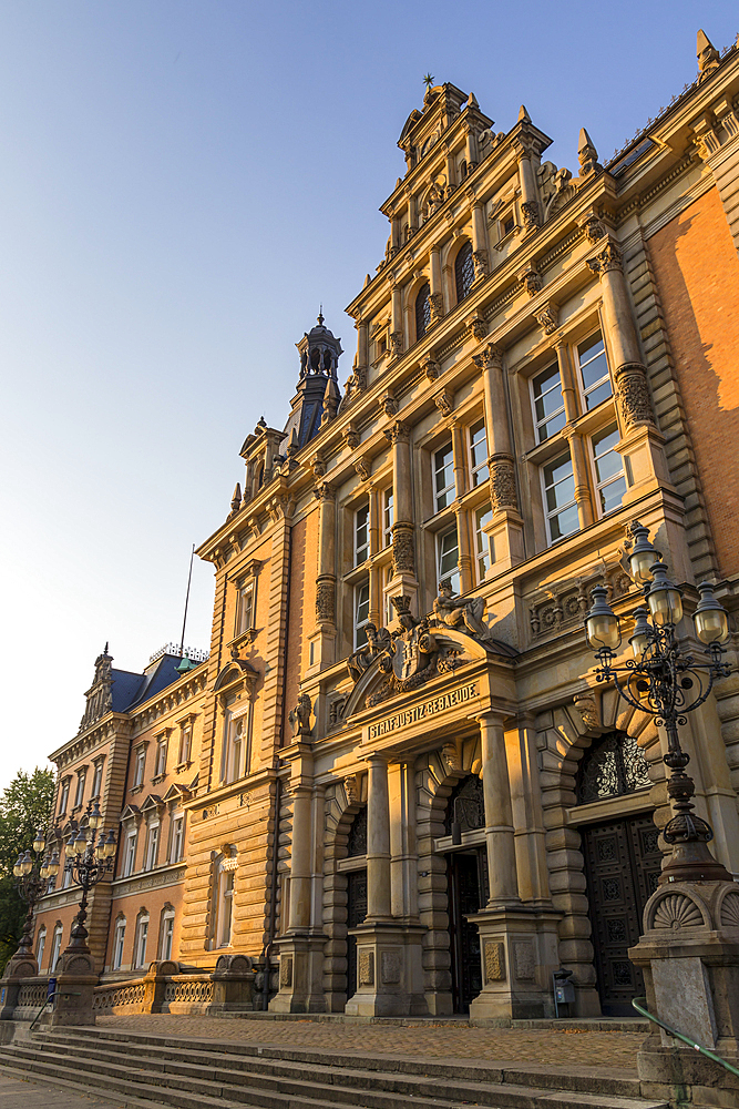 Historical Criminal Justice Building in the New Town District, Hamburg, Germany, Europe - 1283-934