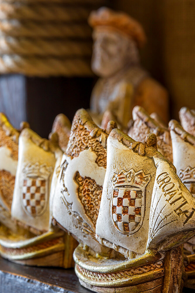 Typical souvenirs in a Marco Polo Shop in Korcula Town (the supposed birthplace of Marco Polo)