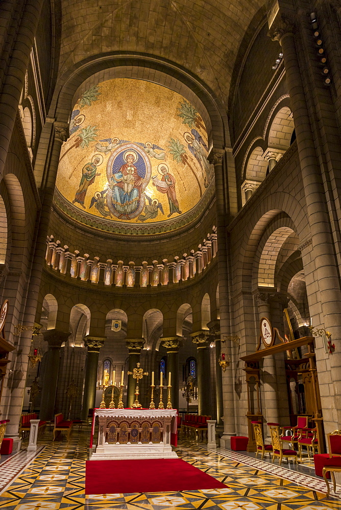 Interior of the St. Nicholas Cathedral in the old town, Monaco Ville, Monaco, Cote d'Azur, French Riviera, Mediterranean, Europe - 1283-992