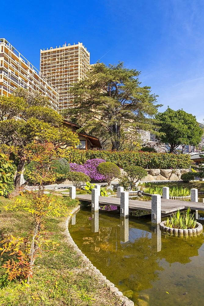 Japanese Garden, Monte Carlo, Monaco, Cote d'Azur, French Riviera, Mediterranean, Europe - 1283-995