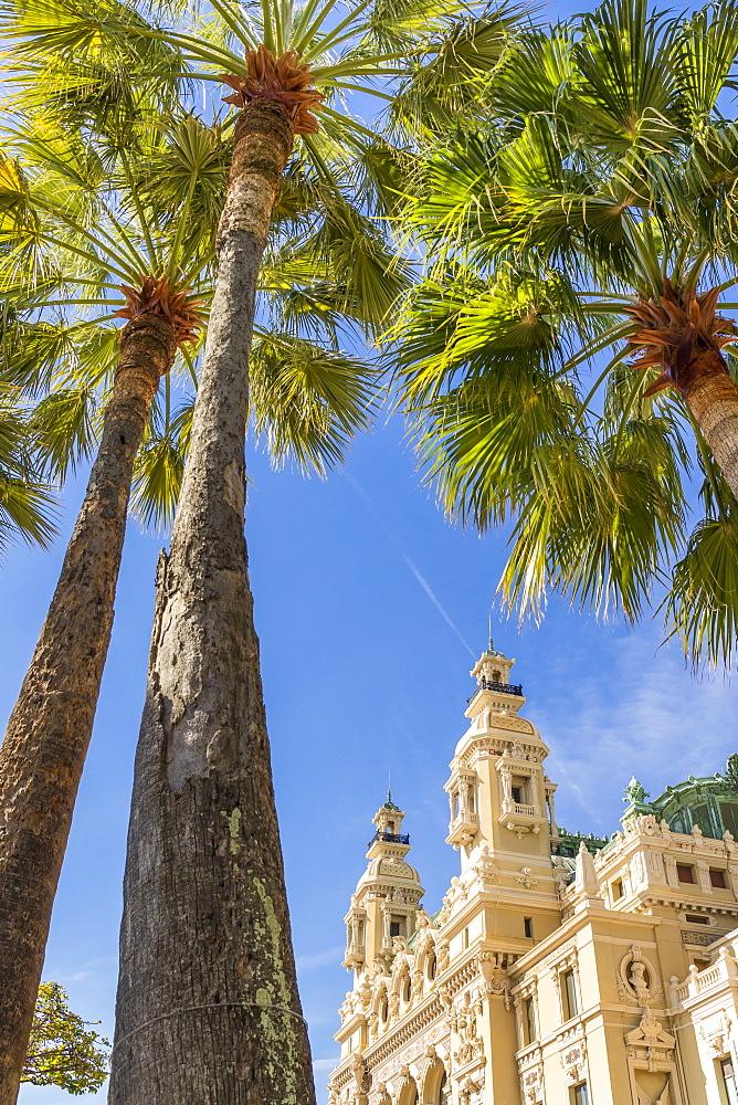 Monte Carlo Casino, Monaco, Cote d'Azur, French Riviera, Mediterranean, Europe - 1283-996