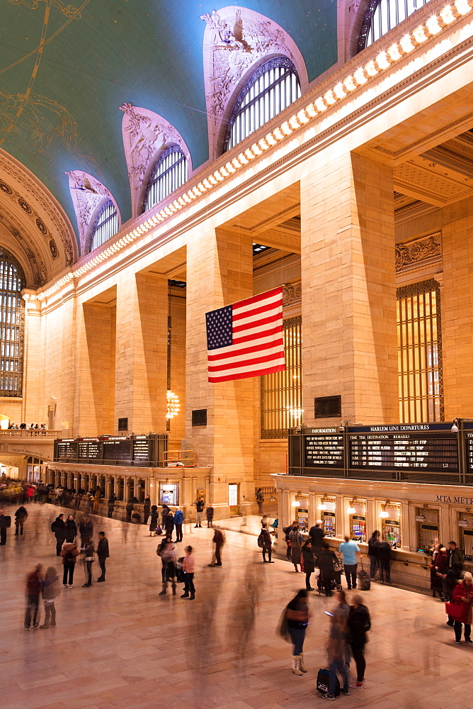 Main concourse at Grand Central Station, New York City, New York, United States of America