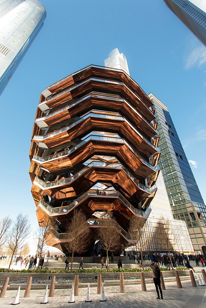 The Vessel (Hudson Yards Staircase), Hudson Yards Public Square, New York City, New York, United States of America, North America
