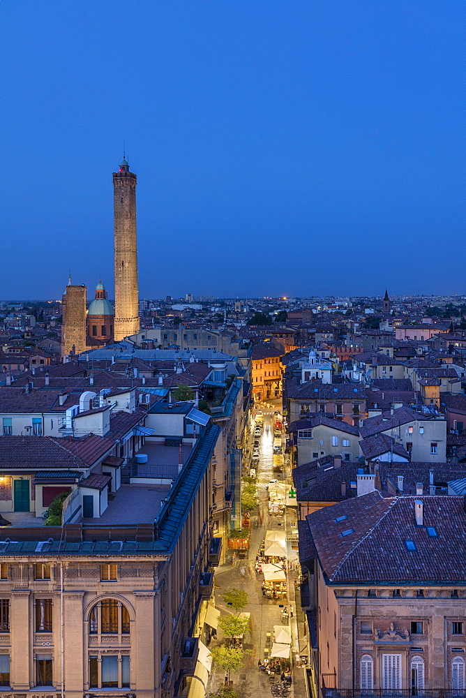 View from King Enzo Palace (Palazzo Re Enzo), Bologna, Emilia-Romagna, Italy, Europe