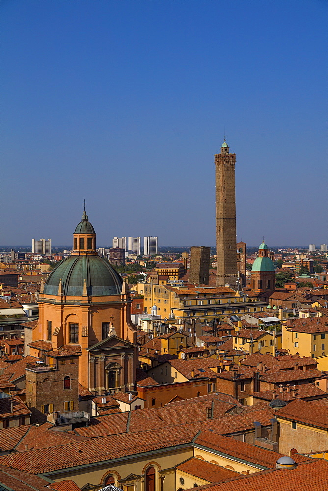 View from San Petronio's terrace, Bologna, Emilia-Romagna, Italy, Europe