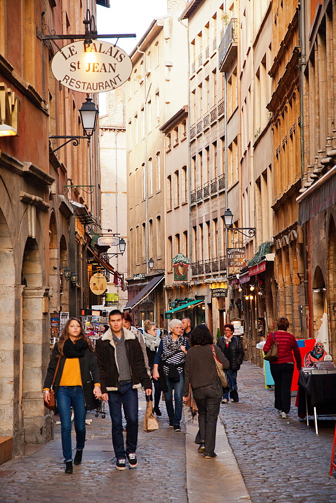 Rue St. Jean, Lyon, Auvergne-Rhone-Alpes, France, Europe