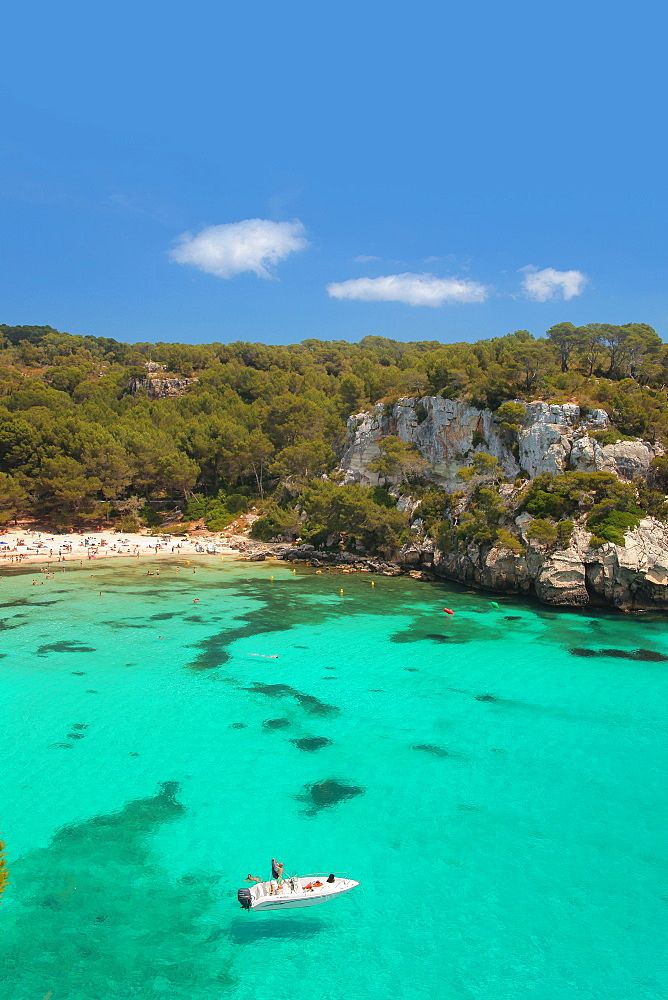 Mitjana beach, Minorca, Balearic Islands, Spain