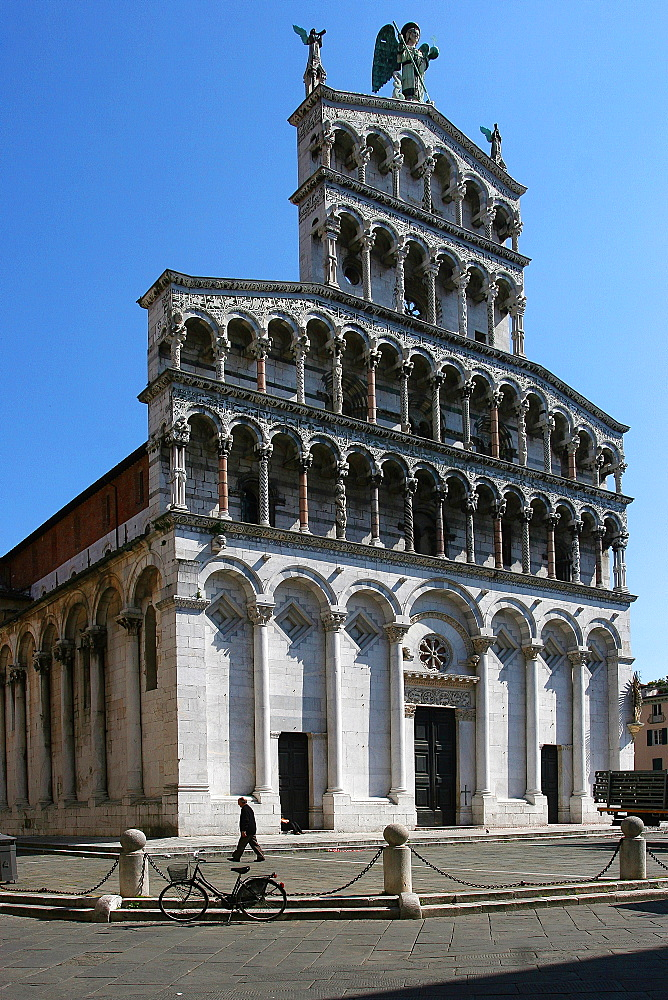 San Michele church, Lucca, Tuscany, Italy, Europe - 1292-1515