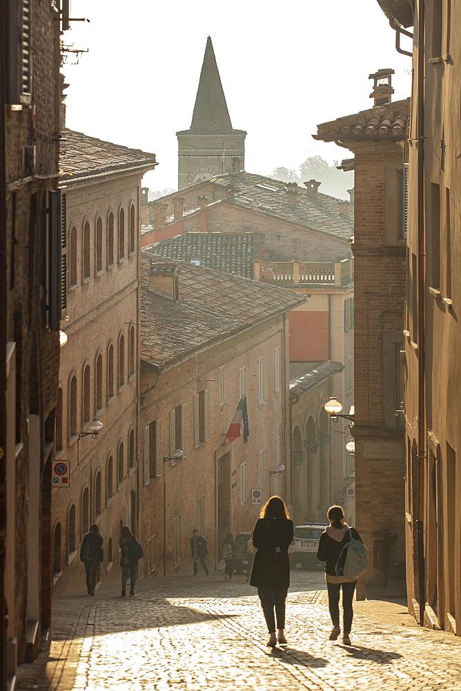 Via Raffaello, Urbino, Marche, Italy, Europe