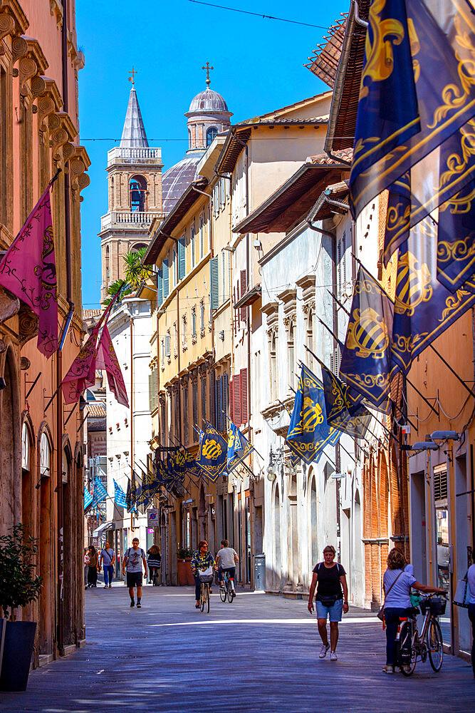 Corso Cavour, Foligno, Perugia, Umbria, Italy