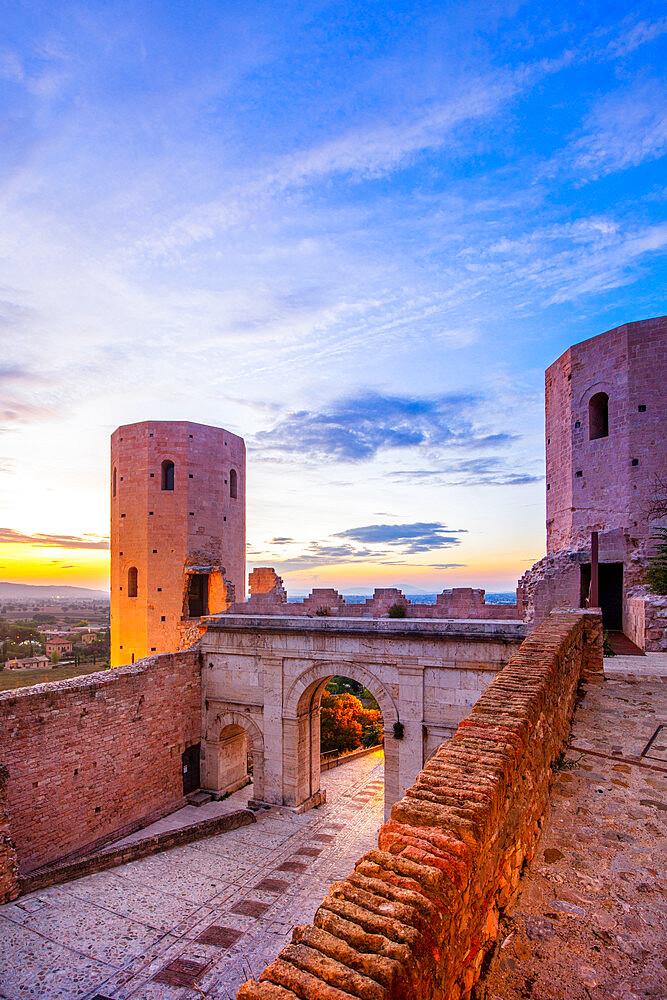 Torri di Properzio and Porta Venere, Spello, Perugia, Umbria, Italy