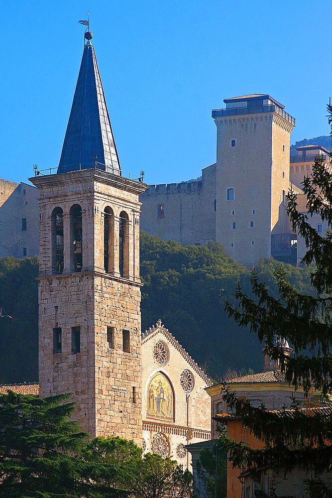 Cathedral of Santa Maria Assunta, Spoleto, Perugia, Umbria, Italy, Europe - 1292-1651