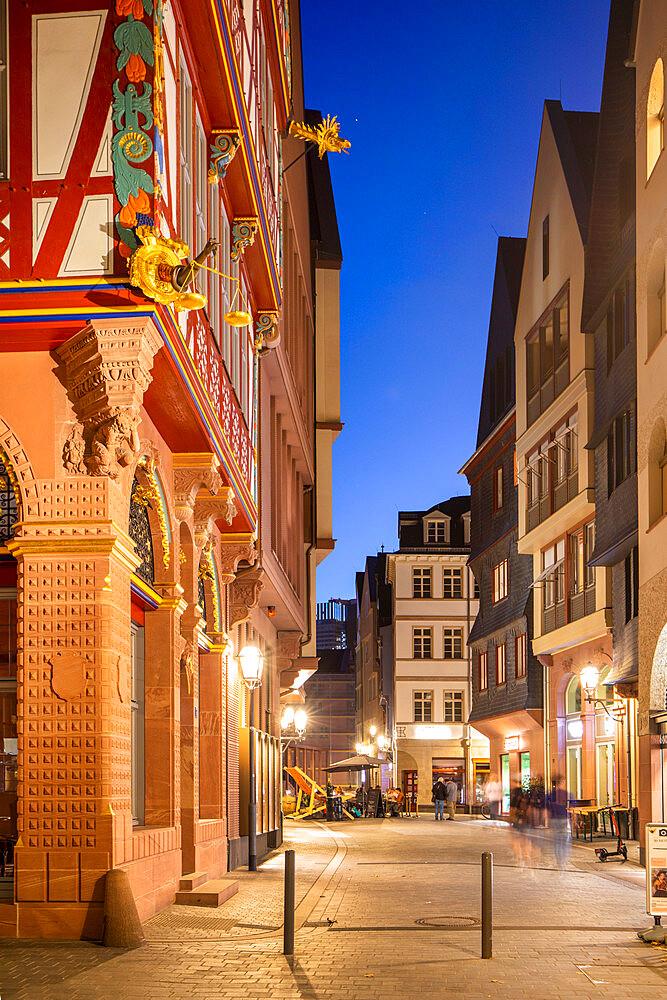 New Old town, Frankfurt am Main, Hesse, Germany, Europe - 1292-1660
