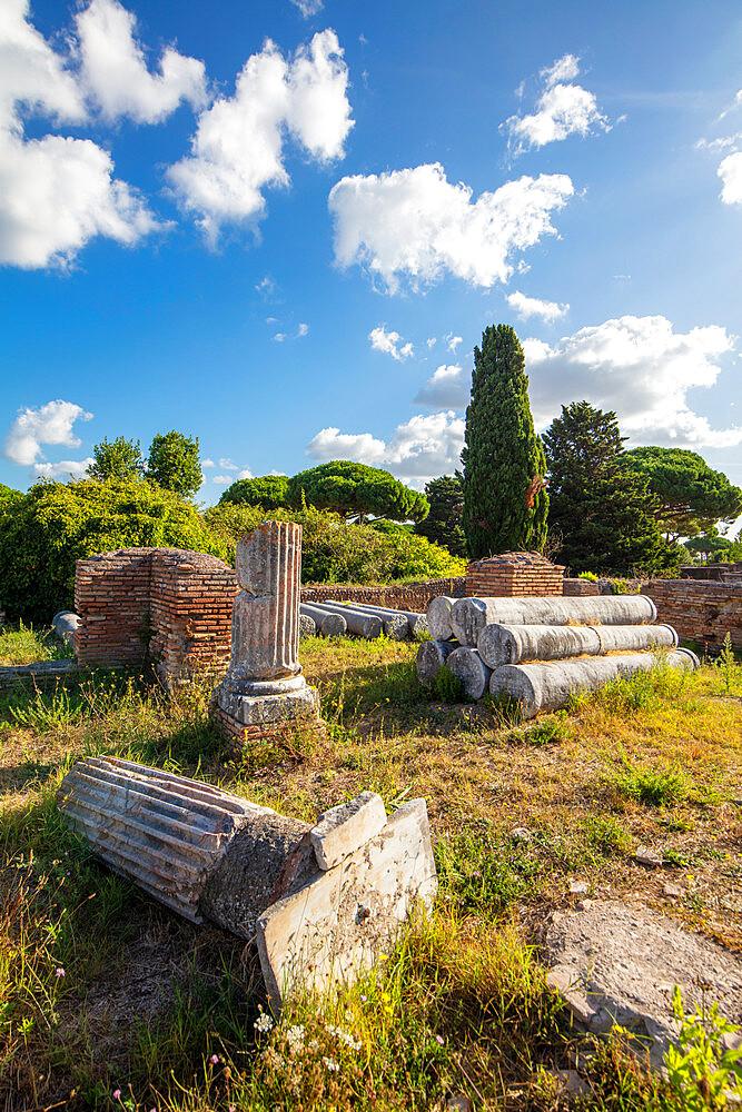 Temple of Fabris Navales, Ostia antica, Roma, Lazio, Italy.