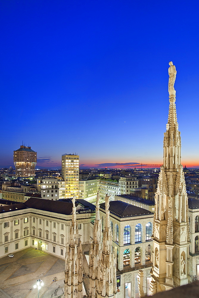 The Cathedral, view from the terrace,Milano, Lombardia, Italy