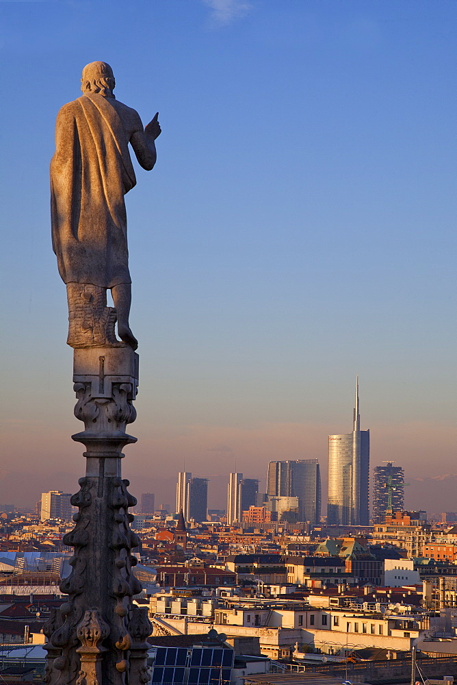 The Cathedral ), view from the terrace,Milano, Lombardia, Italy
