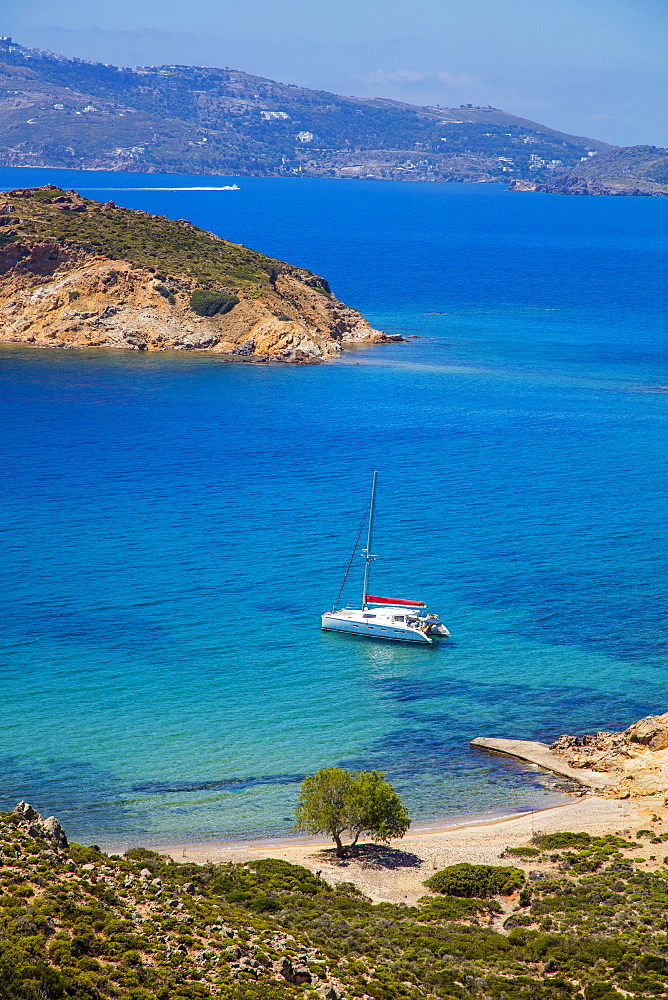 Nekrothalassa beach, Patmos, Dodecanese, Greek Islands, Greece, Europe