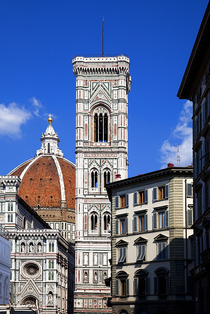The Cathedral (Duomo) (Cattedrale Metropolitana di Santa Maria del Fiore), Florence, UNESCO World Heritage Site, Tuscany, Italy, Europe