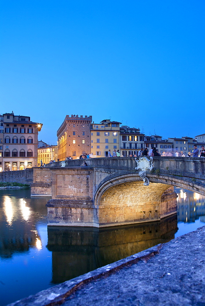 Santa Trinita Bridge, Florence, Tuscany, Italy, Europe