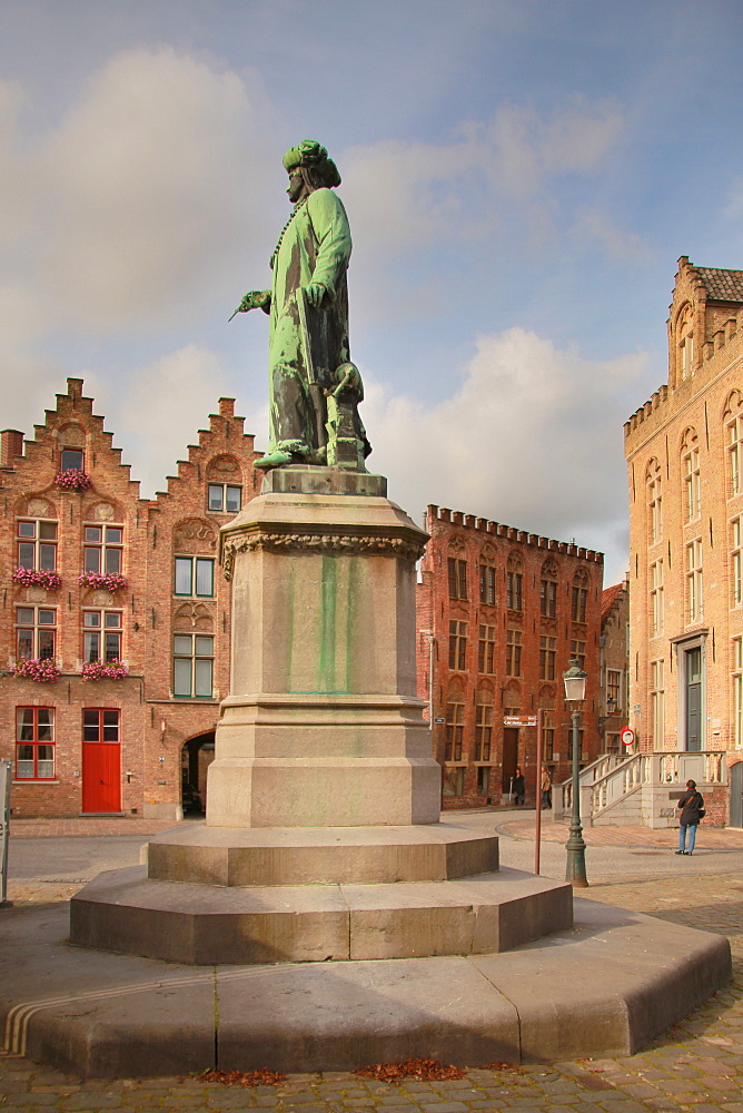 Van Eyck Square, Bruges, Flemish Region, West Flanders, Belgium